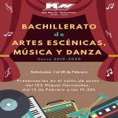 Bachillerato artes escénicas y danza.