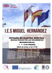 Jornada de puertas abiertas 7 y 15 de febrero IES Miguel Hernández